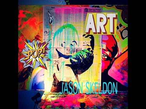pop art painting madonna