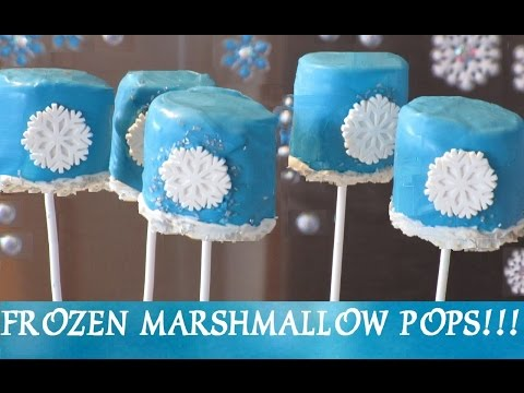 FROZEN Snowflake Marshmallow Pops! Inspired by Disney Frozen Movie