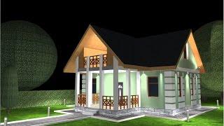 Процесс построения здания в DIALux 4