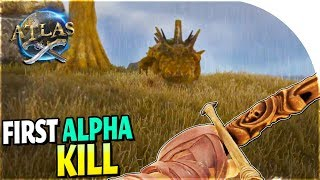 ALPHA KILLING, NEW OP Bow, CROCODILE Hunting (EASY Leveling Up!) in Atlas Gameplay Part 6