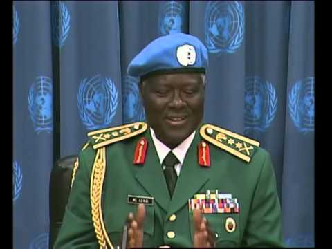DARFUR UN FORCE COMMANDER GEN MARTIN LUTHER AGWAI
