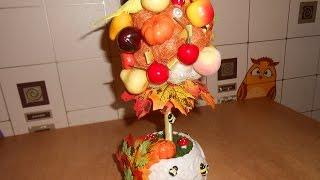 DIY ТОПИАРИЙ ЗОЛОТАЯ ОСЕНЬ / Мастер класс /Дерево счастья своими руками /How to Make a Topiary
