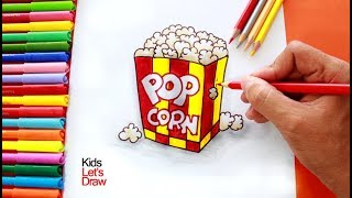 Cómo dibujar Palomitas de Maíz | How to draw a Popcorn Bag