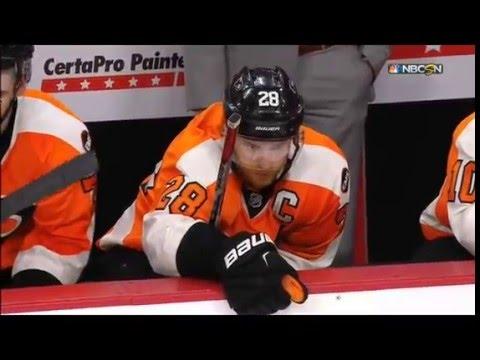 Philadelphia Flyers Fans litter ice