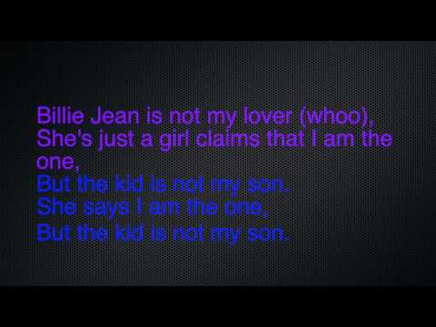 Bille Jean - Breathe Carolina lyric video