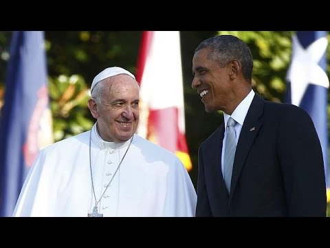 Pope Francis meets President Obama - no comment