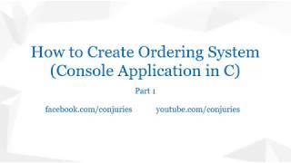 Wie zu Erstellen-Bestellsystem (Konsolen-Anwendung in C) • (Philippinisch) • Teil 1