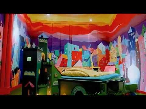 probably the most bizarre hotel from europe propeller island city lodge berlin germany youtube. Black Bedroom Furniture Sets. Home Design Ideas