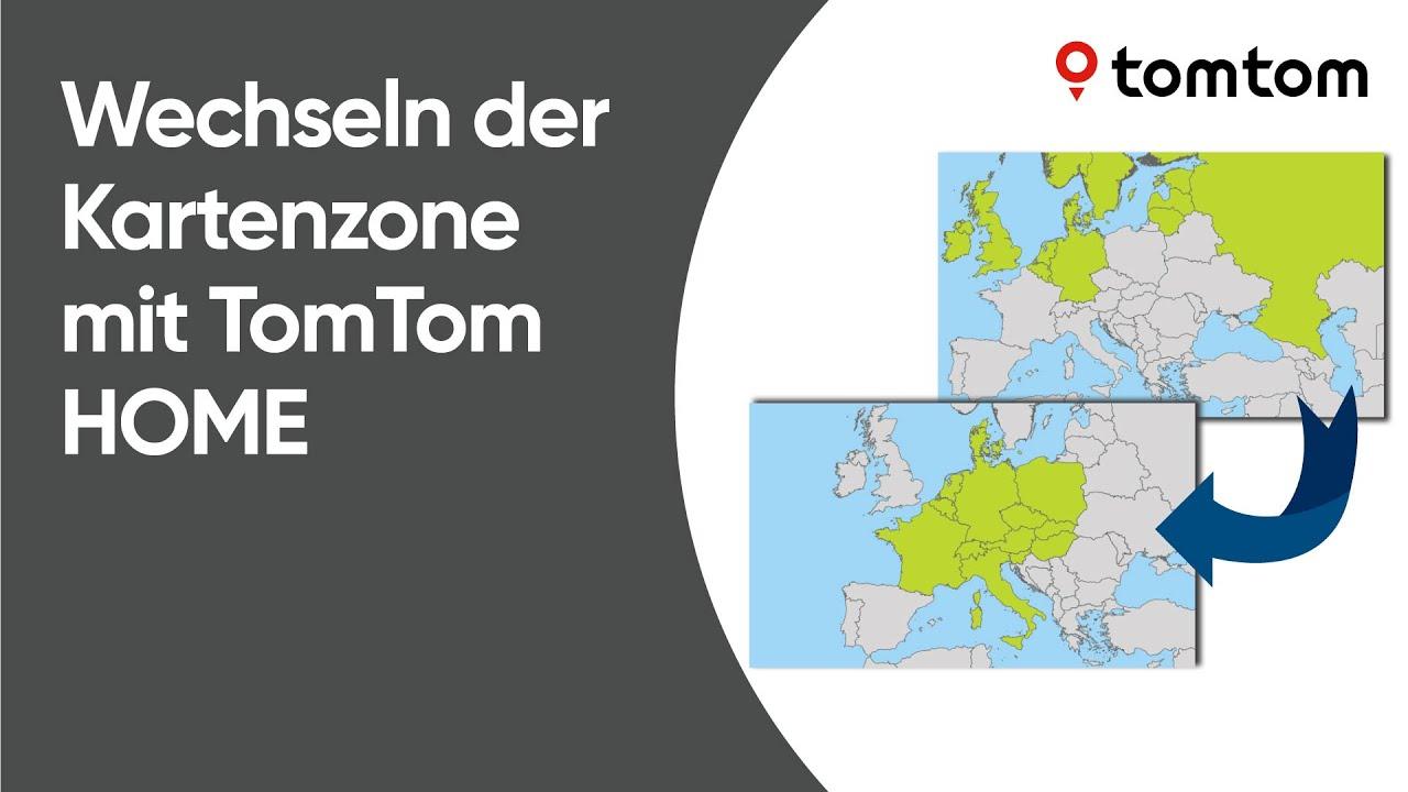 Tomtom Sd Karte Installieren.Wechseln Der Kartenzone Mit Tomtom Home