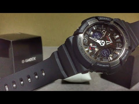Casio GA-200-1JF Basic Silver & Black G-Shock watch unboxing & review
