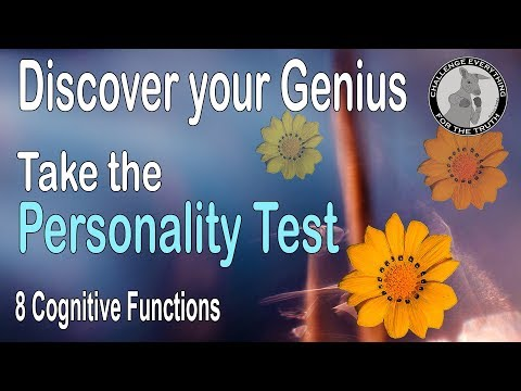 Discover your Genius - 8 Cognitive Functions Personality Test. (True Talent)
