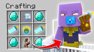 HOW TO SUMMON BABY THANOS IN MINECRAFT