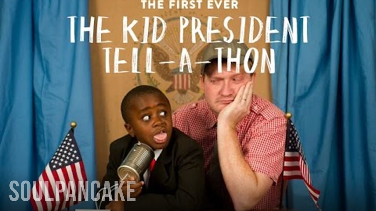 First Ever Fantabulous Kid President Tell A Thon Youtube