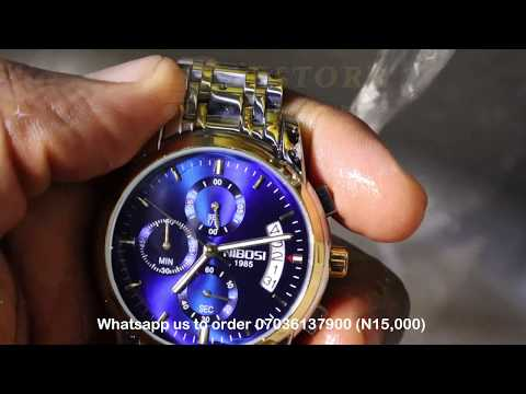 NIBOSI LUXURY CHRONOGRAPH WRISTWATCH DURABILITY AND WATER TEST