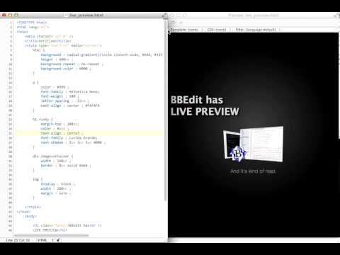 BBEdit Live Preview
