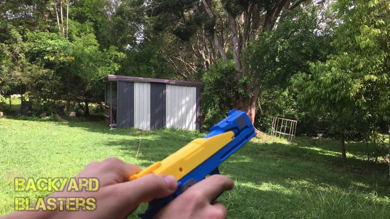 hi capa dart gun range test backyard blasters youtube