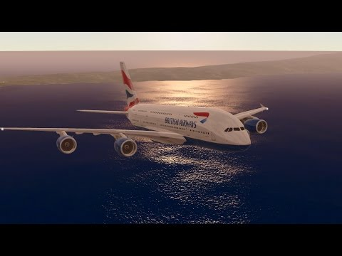 IFSM - British Airways Airbus A380 landing at Palm Springs International Airport