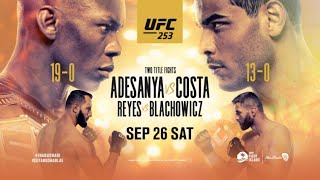 UFC 253 LIVE ADESANYA VS COSTA LIVESTREAM & FULL FIGHT COMPANION