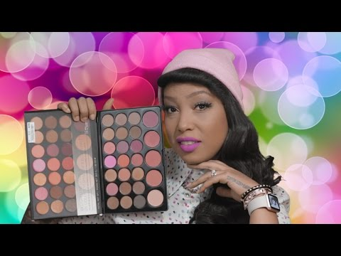 BH COSMETICS - BLUSHED NEUTRALS 26 COLOR EYE SHADOW & BLUSH PALETTE + FIRST IMPRESSIONS