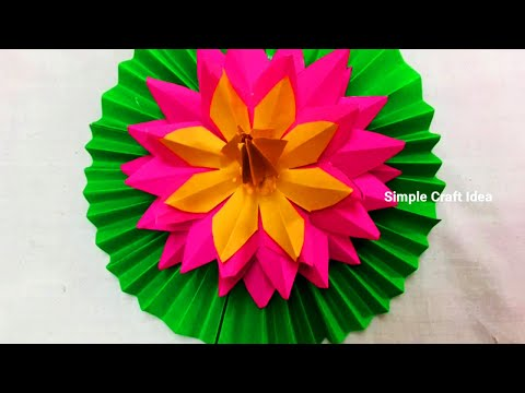 How to make Beautiful Water Lilly/Lotus With Paper - DIY