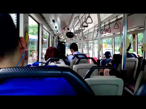Travel-Bus no.985 journey fron Central Singapore to northern Singapore 2018