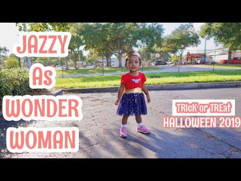 JAZZY AS WONDER WOMAN | TRICK OR TREAT | HALLOWEEN2019| SimplyGen Florida