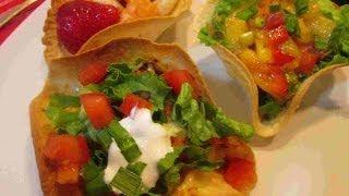 The Cutest Mexican Tostada Cups  ~ Cinco de Mayo Recipe