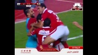 أهداف الأهلي 2 انبي 0 السعيد ومؤمن زكريا 15 ابريل 2016