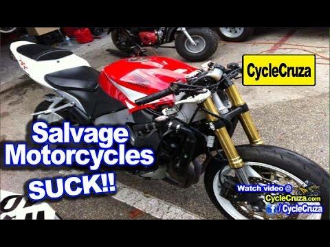 TOP 3 Reasons To AVOID Salvage Motorcycle!   MotoVlog