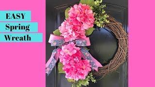 How to Make a Spring Wreath - DIY Spring Door Wreath