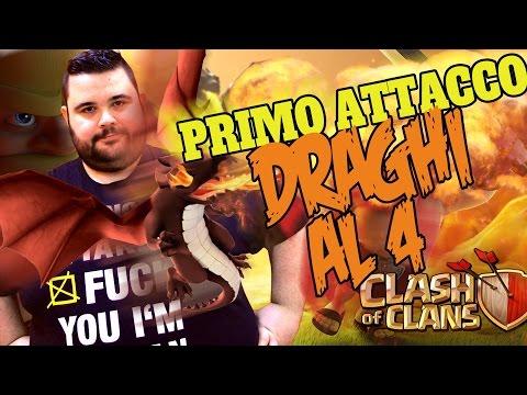 Clash of Clans: Primo Attacco con i Draghi al 4° Livello...