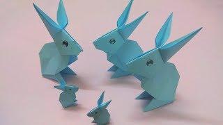 Cách gấp con thỏ bằng giấy đơn giản nhất - Origami Rabbit easy - Xếp giấy hình thỏ