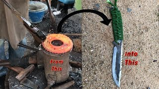 Turning This Into A Nice Camping Knife: របៀបធ្វើកូនកាំបិត MP3