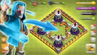 Ice Wizard vs Max Wizard Towers || Clash of Clans