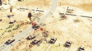 1942 Siege of Tobruk, Panzer Korps & Luftwaffe Advance | Sudden Strike 4 Desert War Gameplay
