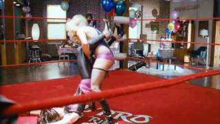 Carmen Electra and Kim Kardashian in a sexy catfight