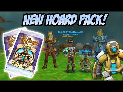 Wizard101 NEW ALPHOI HOARD PACK! LEVEL 130 GEAR?!   Waooz com
