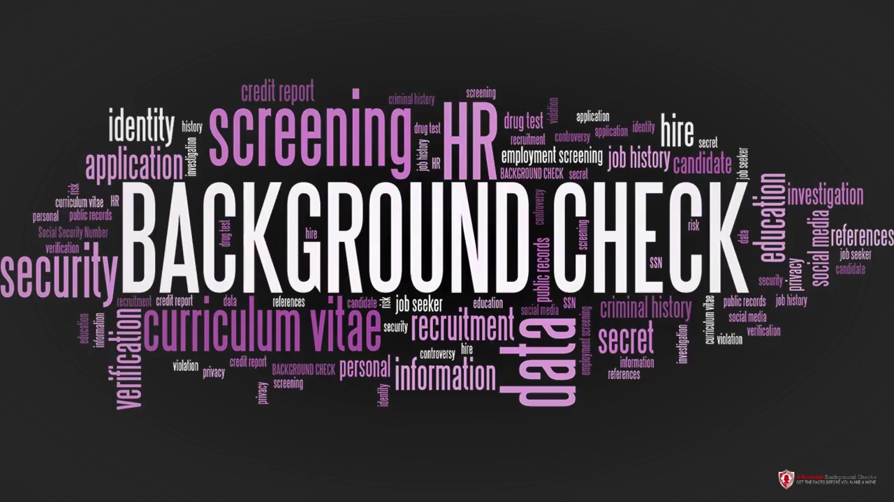 what comes out in background check