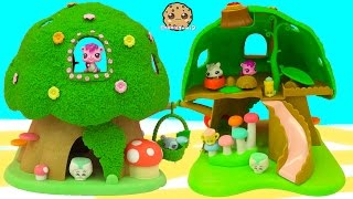 Calico Critters Treehouse Playset Video with Littlest Pet Shop + Shopkins Season 2 Fluffy Babies