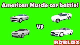 American muscle car battle!   Roblox: Vehicle Simulator