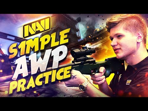 NAVI S1mple Тренирует AWP перед Турниром