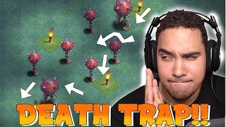 CAN YOU GET PAST THIS!?! | CLASH OF CLANS | DEATH TRAP BASE!!