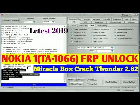 Nokia 1(TA-1066) Frp Unlock By Miracle crack 2 82 Letest