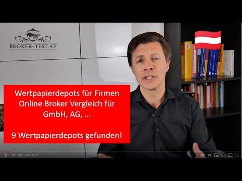 Wertpapierdepot für Firmen 🇦🇹 Online Broker Vergleich für GmbH, AG, ... 🇦🇹
