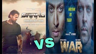 War VS Saaho Movie   Hrithik, Tiger VS Prabhas   Highest Grosser of 2019   War, Saaho