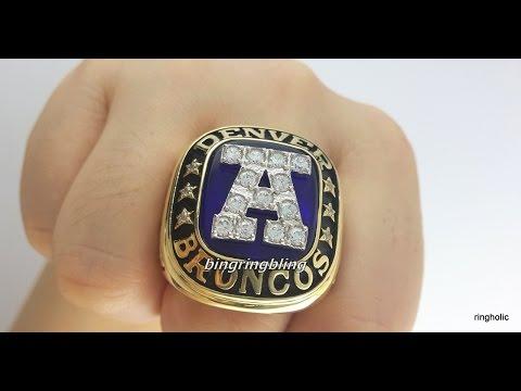 Custom Make Denver Broncos 1986 Replica AFC Ring,Custom make football rings.