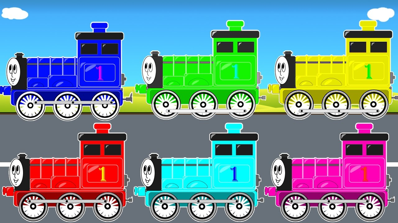 COLOR THOMAS TRAIN for Kids & Funny Cars Cartoon for Toddlers w Colors for Children