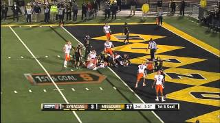 11/17/2012 Syracuse vs Missouri Football Highlights
