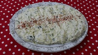 Salatalıklı Patates Salatası Tarifi, salata tarifleri,