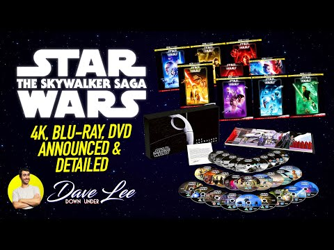 STAR WARS: THE SKYWALKER SAGA - 4K, BLU-RAY, DVD BOX SET Announced & Detailed